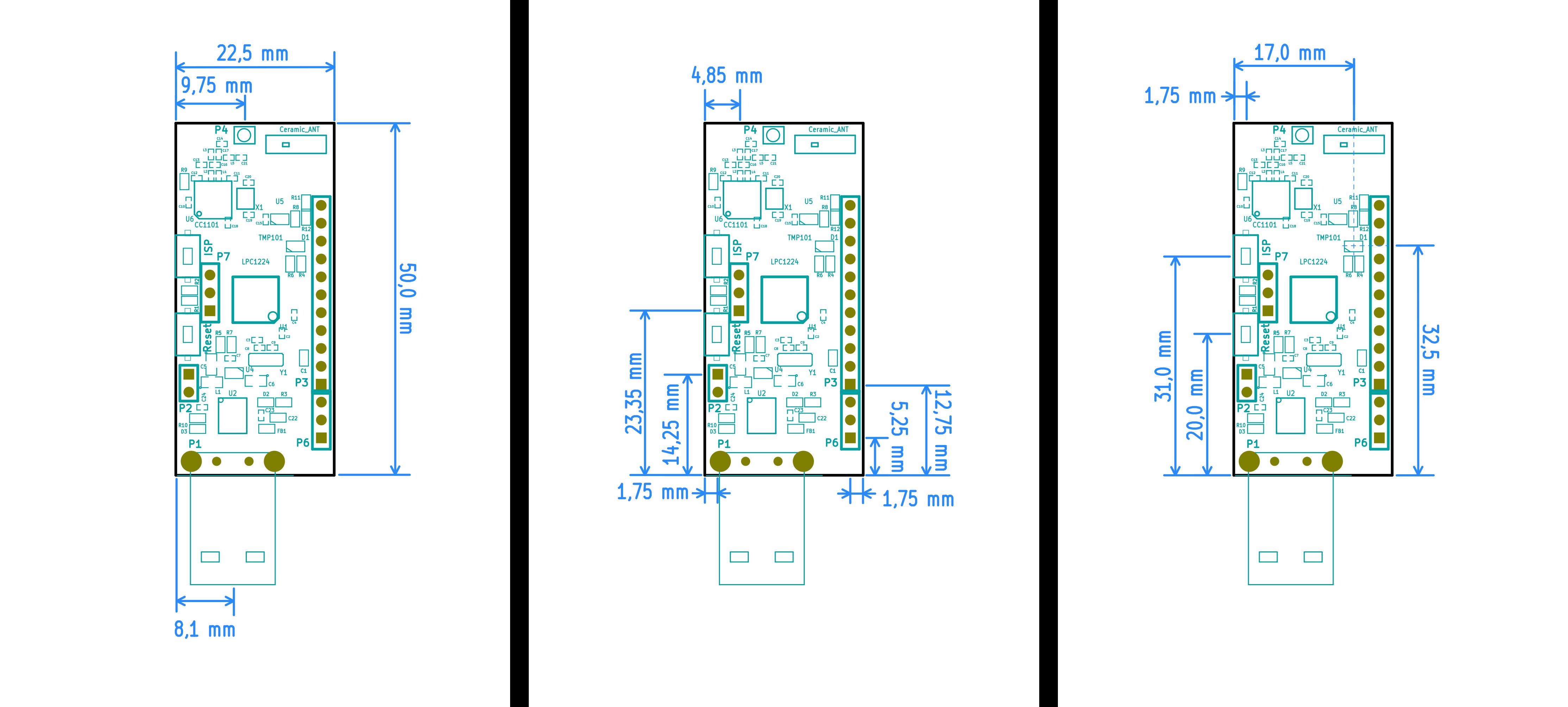 Cotes module RF USB